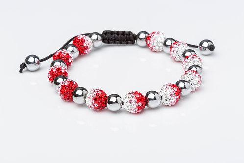 Bracelet strass dégradé rouge