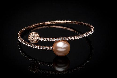 Bracelet perle strass doré