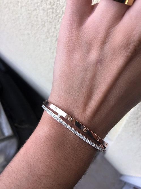 Bracelet CRT strass doré