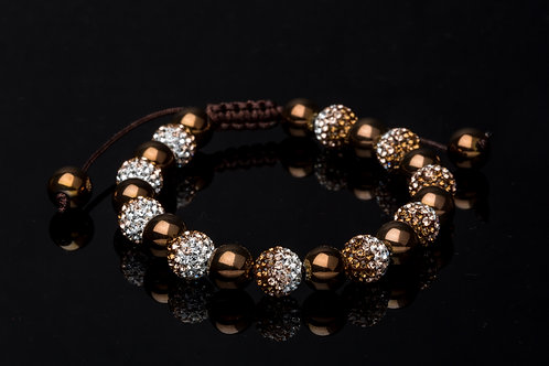 Bracelet strass dégradé marron