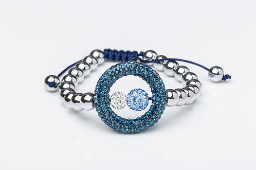 Bracelet boucle bleu