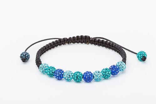 Bracelet strass macramé turquoise