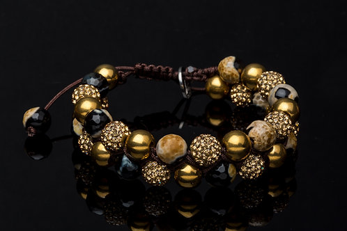 Bracelet double léopard