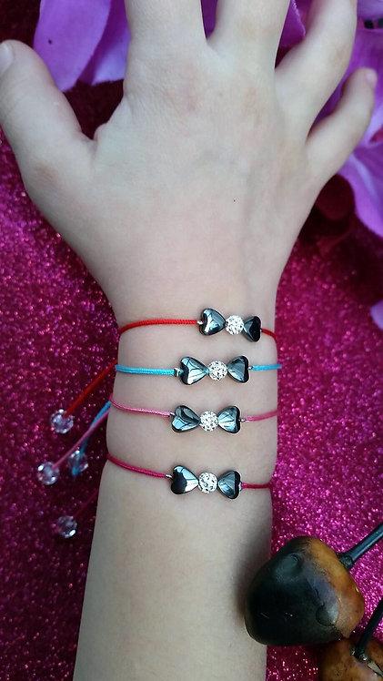 Bracelet enfant noeud coeur