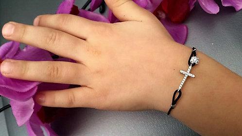 Bracelet enfant croix fil