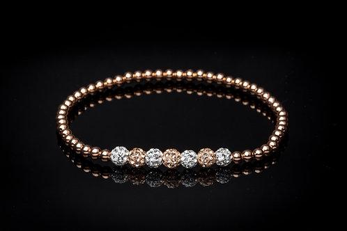 Bracelet 7 strass doré
