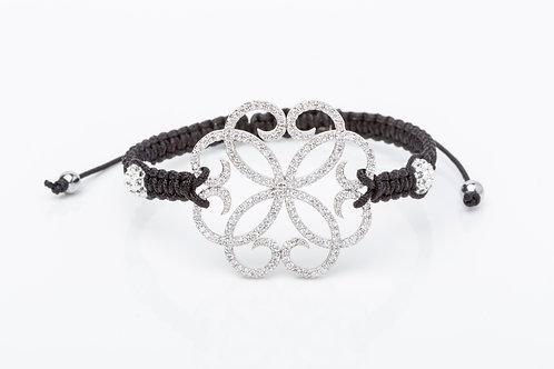 Bracelet rosace macramé