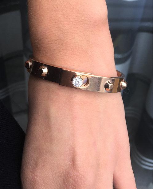 Bracelet clou doré