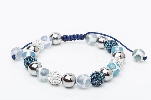 Bracelet simple Léopard bleu