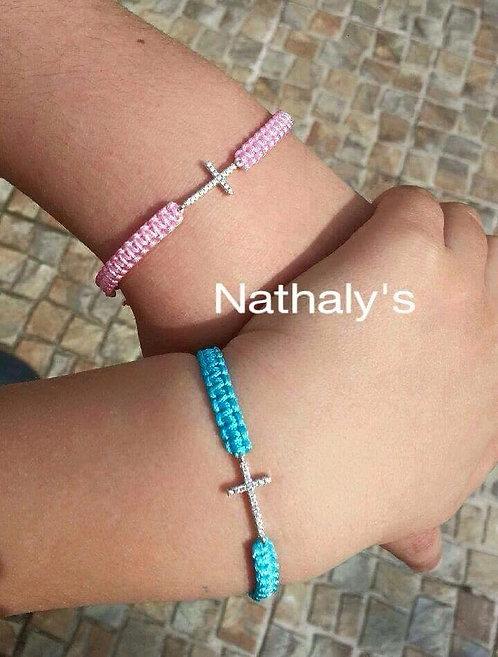 Bracelet croix macramé