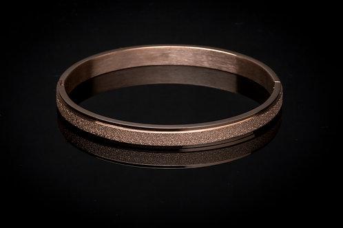 Bracelet acier pailleté doré