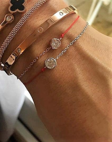 Bracelet fil chaine