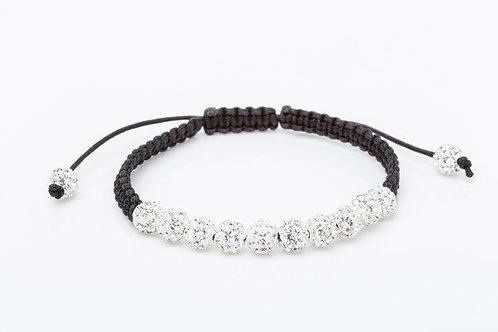 Bracelet strass macramé blanc
