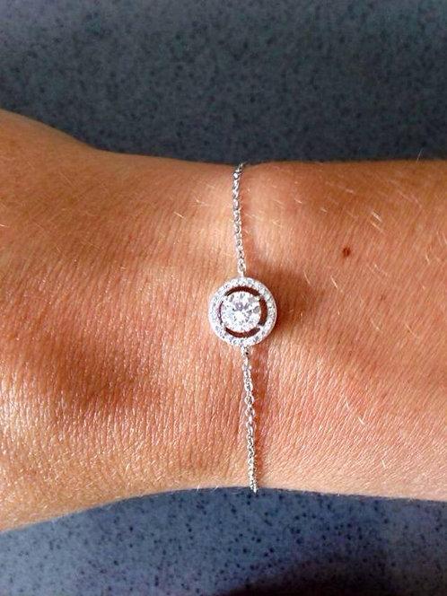 Bracelet argent diamand