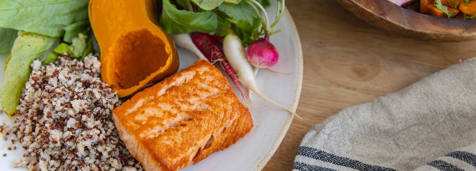 Roasted Salmon Plate