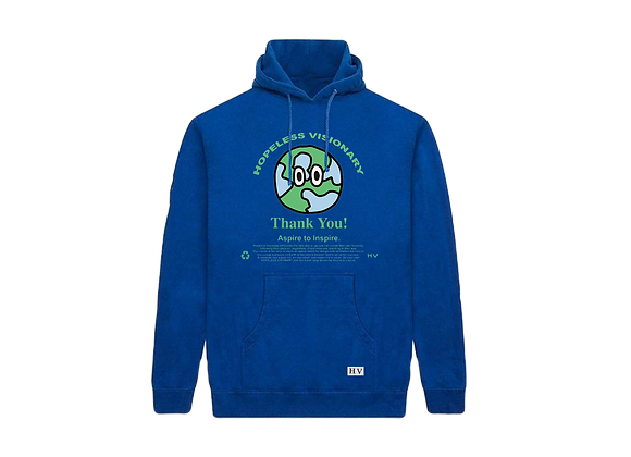 Blue Thank You! Hoodie