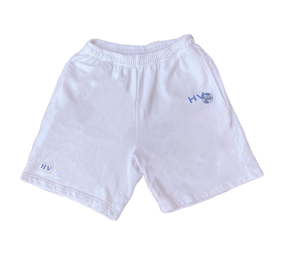 White Global Shorts