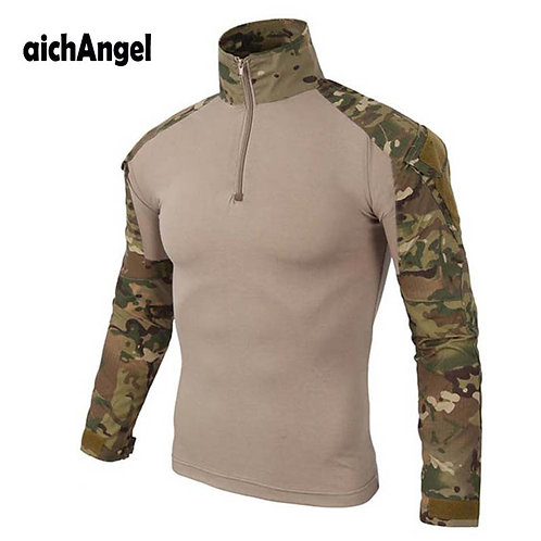 Military T-Shirt Men Camouflage Tactical US Army Combat Soldier Field Shirts