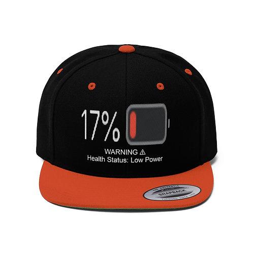 Unisex Flat Bill Hat (Low Power Mode)