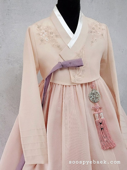 Blush Embroidered Set