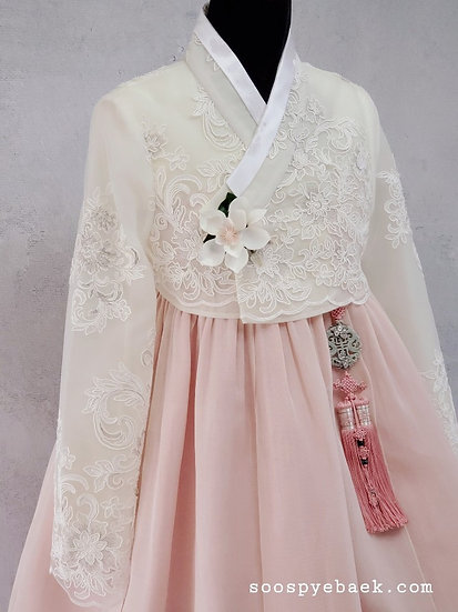 White and Pink Lace Set