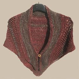 Lynne Harper shawl in carded merino and silk
