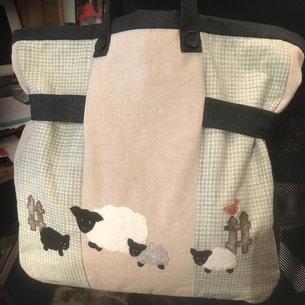 Lynne Harper woolly knitting bag