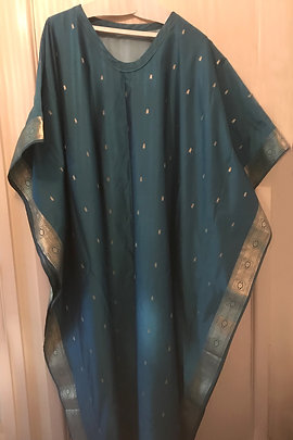 Lynne Harper, kaftan made from a silk sari.