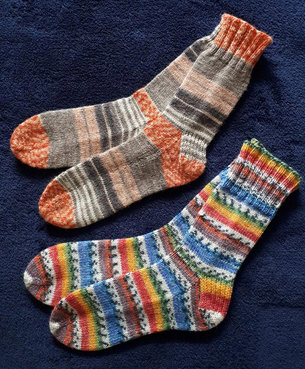 Janet Dunbar - 'Eight Pairs of Socks for Next Winter' project