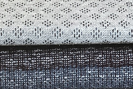 Lynne Harper double weave stitched fabric