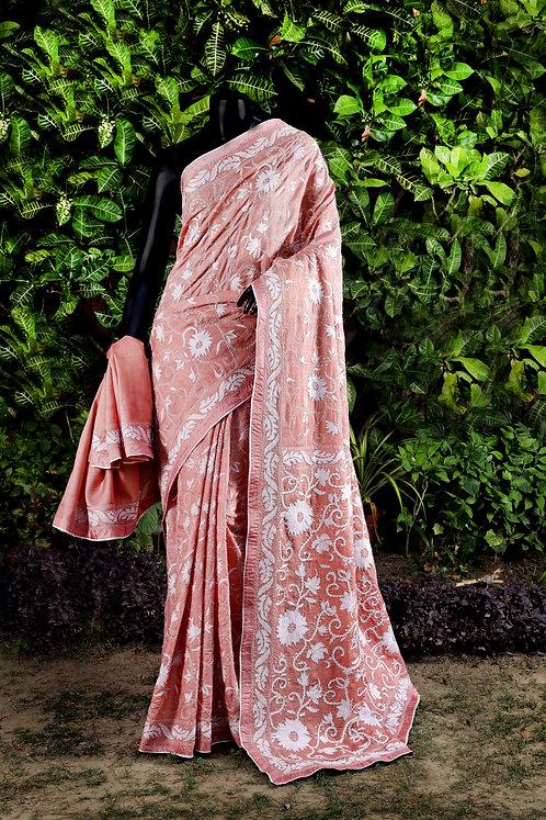 Kantha Tussar Saree: Beaded/155