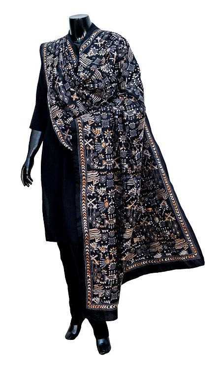 Kantha Silk Dupatta: 392