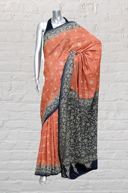 Kantha Saree: Floral Jaal