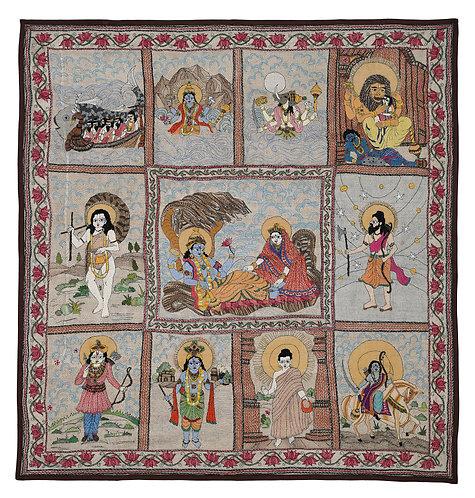Kantha StitchArt: Vishnu Avtaar