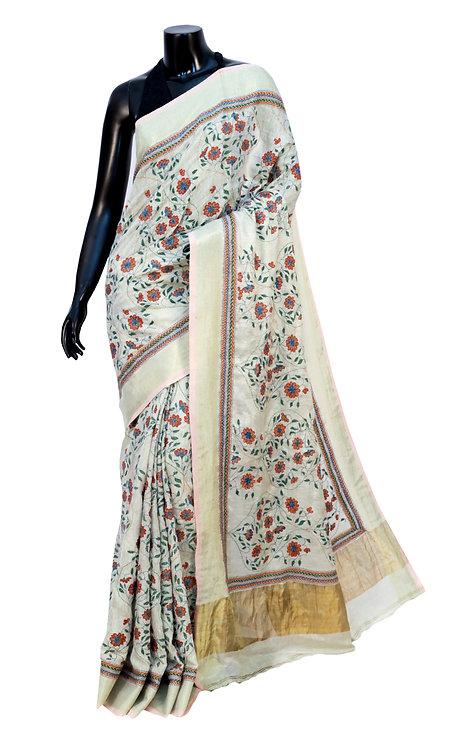 Kantha Saree: Floral Motifs /MKC-112