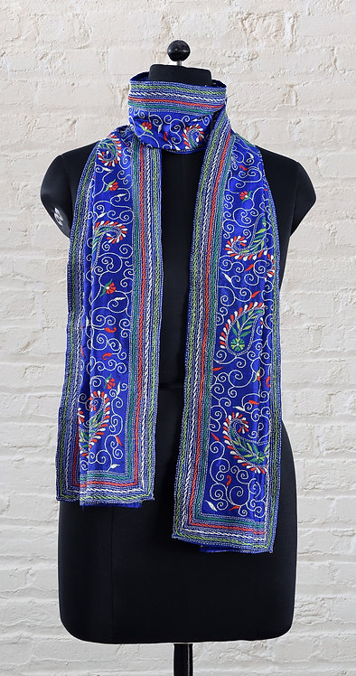 Kantha Scarf: Paisley Jaal / 388