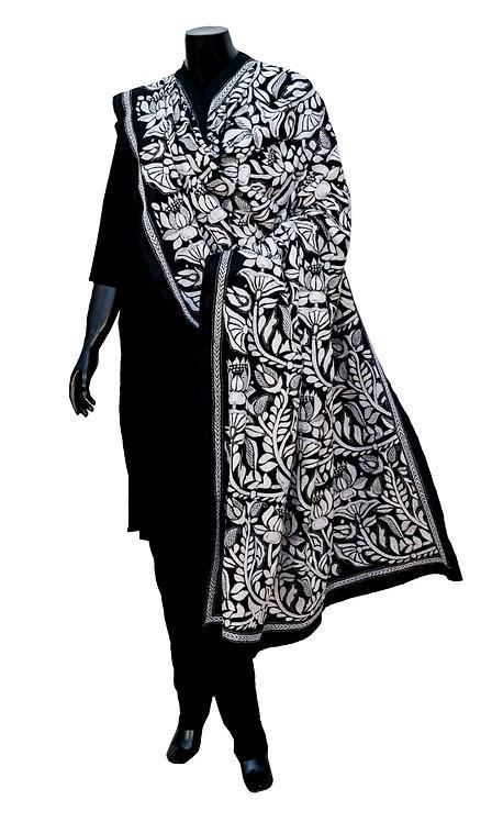 Kantha Silk Dupatta: 120