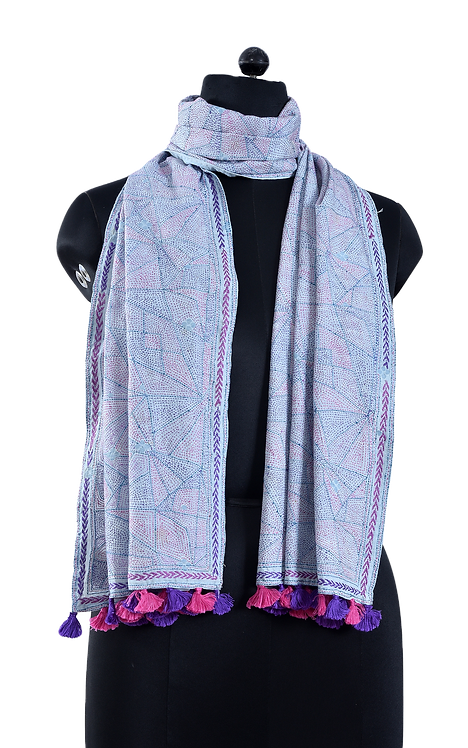 Kantha Scarf: Abstract Design /093