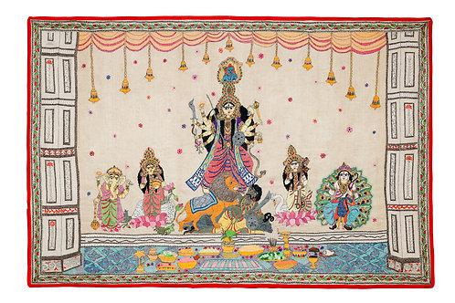 Kantha StitchArt: Durga Mandap/030