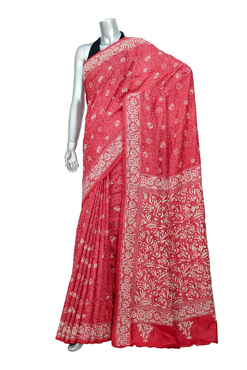 Kantha Saree: Floral Jaal /MKC-120