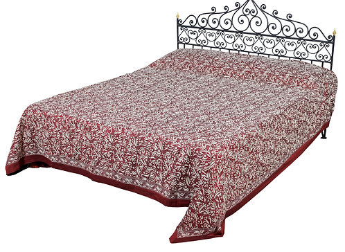 Kantha Bedcover: Heavy Jaal
