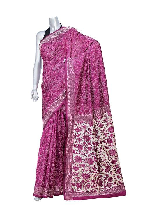 Kantha Saree: Heavy Jaal /MKC-130