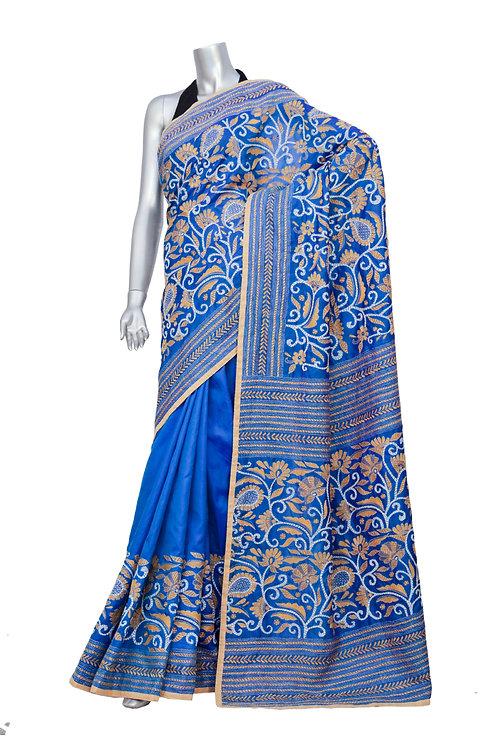 Kantha Silk Saree: 092