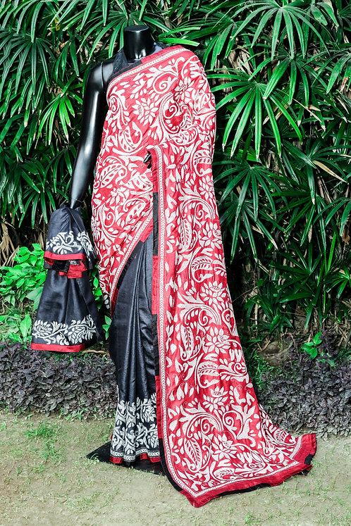 Kantha Tussar Saree: 098