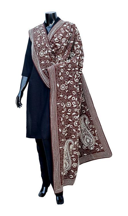 Kantha Dupatta: Big Paisley and Floral Jaal /384