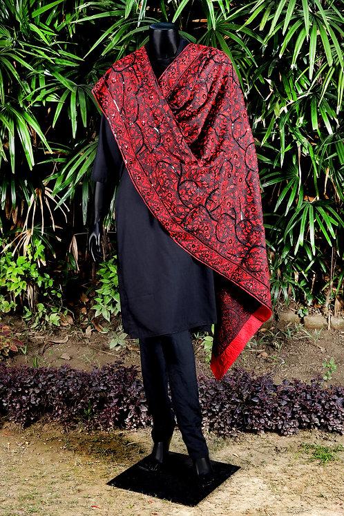 Kantha Silk Dupatta: Sequins /496
