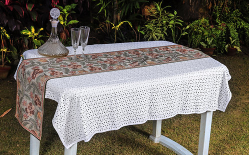 Kantha Tussar Table Runner: 003