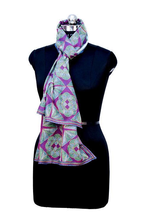 Kantha Scarf: Abstract Design (531)