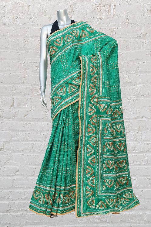 Kantha Silk Saree: 101