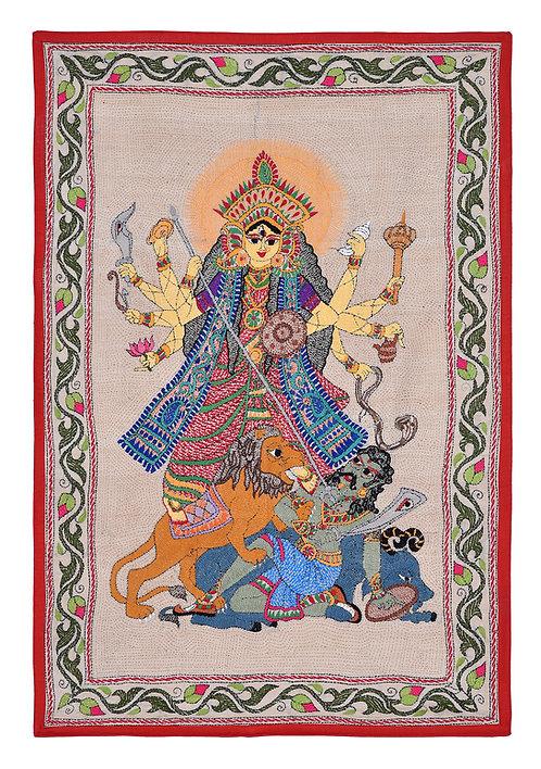 Kantha StitchArt: Ma Durga/019